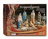Glorex Latex Krippenfiguren Set, Andere, Mehrfarbig, 31 x 22 x 6,5