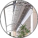 YONGQUAN Transparente Türfenster Baldachin, Dachterrasse Canopies Veranda Regenschutz, Haushaltsanwendung Dauerhelfer, (Color : White, Size : 100x80cm)
