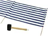 IDENA Windschutz ca.800x80cm für Strand, Camping und Garten 8mm im Set mit passendem Gummihammer