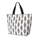 Damen-Handtaschen, florales Grafik-Design, traditionelles großes Fassungsvermögen, trendig, für Fitnessstudio, Sport, Strand, Schule, Bücher