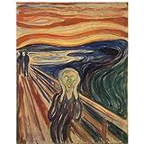 Edvard Munch The Scream 1910 Ölgemälde Leinwand Reproduktionen Wandkunst Druck Modern Room Decor Artwork -24x32 Zoll ohne Rahmen