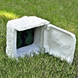 Tidyard Gartensteckdose 4-Fach Wasserdicht Kunstharz Weiß