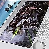 JIACHOZI gaming mousepad xxl Anime Mädchen Waffe Schlacht 1200×600×3mm Maus-Pad für Gaming, rutschfeste Gummibasis für Tastatur, Laptop Mousepad Großes Maus Mat Tastatur Unterlage Extra für M