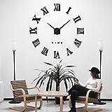 iKALULA DIY 3D Wanduhren, DIY Wanduhr Modern Design Acryl Wanduhren Wandtattoos Dekoration Uhren DIY Aufkleber Wanduhr für Dekoration Geschenk Nach Hause, Restaurant, Büro und Hotel - Schw