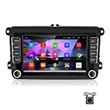 Android Autoradio für VW GPS Autoradio Bluetooth/WiFi/FM/AUX/USB, Multimedia-Radio für Unterhaltungsautomatik mit Mirrorlink für VW + 12 LEDRückfahrkamera