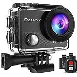 Action Cam 4K Unterwasserkamera Crosstour CT9000 (20MP WiFi Unterwasser 40M Wasserdicht Helmkamera Fernbedienung)