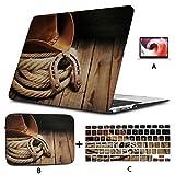 Laptop Hardcase Cowboyhut Wild American West Cool Mac Pro Fall Hard Shell Mac Air 11'/ 13' Pro 13'/ 15' / 16'mit Notebook-Hülle Tasche für MacBook 2008-2020 V