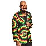 Boland 82026 - Jacke Rastaman, mehrfarbig, Blazer für Herren, Jamaika, Jackett, Karneval, Fasching, Fastnacht, Mottoparty, Hallow