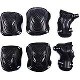 NaiCasy Protektoren Knieschützer Set Ellenbogen Handgelenk-Pads Sport-Schutz Set für Skateboard Roller Radfahren Skating L 6PCS