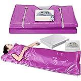 WANGXNCase Sauna Heizdecke Far-Infrarot-Wärmeheizungsdecke Mit Digitaler Wärme, 2-Zonen-Regler Mit 50-teiliger Kunststoffplatte, Um Das Gewicht Von Dünnem Körper Zu R