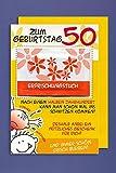Grußkarte 50 Geburtstag Karte Humor Applikation Erfrischungstuch C6 Plus 3 Sticker