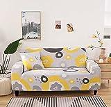 Pastoral Leaves Print Stretch Sofabezug Vier Jahreszeiten Schonbezug Enge Wrap Universelle Elastische Couchbezug für Wohnzimmer A14 4 Sitzer