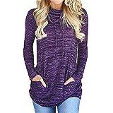 Lockeres Oberteil Damen Oversize Top Damen Damen Bluse Langarm T Shirt Damen Damen Bluse T Shirt Damen Kurzarm Print KüHlshirt Oversize T-Shirt Damen Purple S