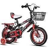 Chenbz Kinderfahrrad 6-9 männliche und weibliche Babytrage 18 Zoll Kinder-Fahrrad High Carbon Stahlrahmen, Orange/Blau/Rot Kinderfahrrad (Farbe: rot)