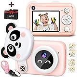 Kinder-Digitalkamera, 1080p HD-Selfie-Dual-Videokameras für Kleinkinder, beste Geburtstagsgeschenke für Mädchen, tragbares Spielzeug für 3 4