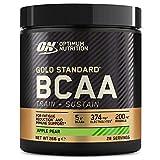 Optimum Nutrition Gold Standard BCAA Pulver, Aminosäuren Komplex Hochdosiert mit Vitamin C, Wellmune, Magnesium und Elektrolyten, BCAAs Pulver von ON, Apple und Pear, 28 Portionen, 266g