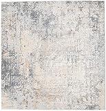 Ritz - Hellgrau / Beige Teppich 250x250 Orientalischer, Quadratisch Teppich