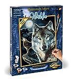 Schipper 609240660 Malen nach Zahlen, Wölfe - Bilder malen für Erwachsene, inklusive Pinsel und Acrylfarben, 24 x 30 cm