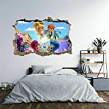 Wandtattoo Among Us Character 3D Hole in The Wall B Effect Wall Sticker Decal Mural80*120CM