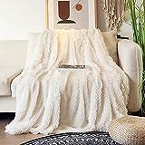 Kuscheldecke, 160x200 cm PV Fleecedecke, Flauschige Kunstfell Decke, Super Weiche & Warm Fleecedecke Wohndecke Tagesdecke für Couch Bett