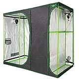 VITA5 Growbox 2-in-1 | Growzelt Zuchtschrank für Pflanzenzucht zuhause | Lichtdicht Reißfestes Tuch | wasserdichte Grow Box (240x120x200)