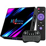 Android TV Box 10.0 4GB 64GB Smart TV Box RK3318 Set-Top-Box Quad-Core 64bit Unterstützung Dual Wi-Fi 2.4G5G BT 3D 4K Ultra HD H.265 Streaming Media Player