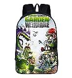 Pflanzen Gegen Zombies Kinderrucksäcke, Schüler-Cartoon-Schultaschen, Nylon-Schultaschen, Jugendrucksäcke (Pfl-2,27 * 14 * 35 cm (13 Zoll))