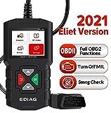 EDIAG YA201 OBD2 Diagnosegerät Vollständiger Obd2-Scanner, Auto Diagnose Scanner Tool Diagnosegerät Auto für Alle OBDII/EOBD 16-Pin OBDII-Schnittstelle, Universal Automotor Diagnose Scan Werkzeug.