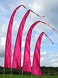 Bali-Fahne, Polyester, pink, 6 Meter