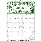 WandKalender 2021-2022 - Monatlicher Wandkalender mit dickem Papier, 43,8 x 30,8 cm, Januar 2021 - Juni 2022, große Blöcke mit julianischen Daten, Zwillingsdrahtbindung, Hängeloch
