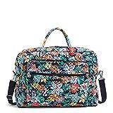 Vera Bradley Damen Signature Cotton Grand Weekender Travel Bag Reisetasche, Happy Blooms, Einheitsgröße