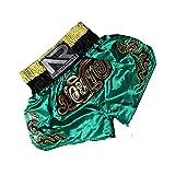 LGQ MMA Shorts Print Muay Thai Shorts Kampftraining Boxhose Kampfsportbekleidung für Männer und Frauen,Style1,M