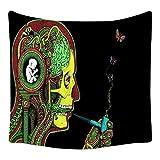 YYRAIN Psychedelische Wandteppich Möbel Wanddekoration Stoff Flur Gemälde Geschenke Wandteppiche Bettwäsche Tagesdecken 59x39 Inch {150x100cm} D