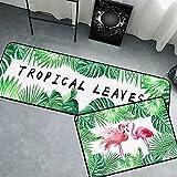HLXX Cartoon Teppich Flamingo Einhorn Muster Türmatte Teppich Küchenmatte rutschfeste Waschbare Wohnzimmer Küche Bodenmatte A5 50x160cm
