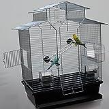Heimtiercenter Vogelkäfig,Wellensittichkäfig,Exotenkäfig,60 cm Vogelkäfig Vogelbauer Wellensittich Kanarien Voliere Vogelhaus Käfig IZA 2 II schw