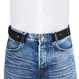 VBIGER Gürtel Herren Unsichtbarer Elastischer Gürtel Ohne Schnalle gürtel Für Damen Jeans Hosen Schwarz