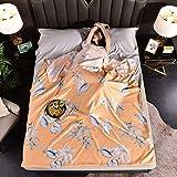 GC&& Schlafsack Liner Ultralight Kompakte Seide Schlafsack Mit Zusätzlichem Kissenfach Erwachsene Schlafsackfutter Weich Reise-schlaftasche