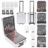 Werkzeugkoffer 969-teilig Qualitätswerkzeug Werkzeugkasten Werkzeugkiste Werkzeugtrolley mit Werkzeug gefüllt Werkzeugkasten Werkzeugkiste Heimwerker Werkzeugset