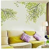 PiniceCore Wand-Aufkleber-Hintergrund Grüner Baum-abziehbilder Zunge Plakat 60 * 90cm Wandaufkleber Blatt-wandaufkleber