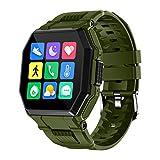 WEINANA Bluetooth-Anruf Smartwatch Übung Schrittzähler Herzfrequenz Schlaf Überwachung Smartwatch wasserdicht Smart Armband(Color:B.)