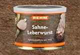 Metzgerei Rehm Hausmacher Sahne Leberwurst 200gr Ringpull-Dose mt Deckel