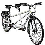 Galano Tandem Fahrrad 700c Berlin 28 Zoll Trekkingrad 21 Gang Shimano Touring (weiß, 51/46 cm)