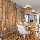Wandverkleidung aus Holz, Bernsteinfarben, 18 Wandpaneele aus Holz, innen: 1 m² | Wandverkleidung aus Holz, Antik-Optik | Wooden W