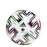 adidas Men's UNIFO LGE XMS Soccer Ball, White/Black/Signal Green/Bright Cyan, 5