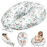 Stillkissen Schwangerschaftskissen zum Schlafen Seitenschläferkissen - Lagerungskissen für Baby XXL Pregnancy Pillow Oeko-Tex (Rosen und Schmetterlinge, 165 x 70 cm)
