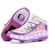 Nsasy Rollschuhe Rollschuhe Schuhe Mädchen Jungen Rad Schuhe Kinder Rad Sneaker Roller Sneakers Schuhe mit Rollen