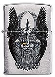 ZIPPO – Sturmfeuerzeug, Odin W/ Raven, Color Image, Chrome Brushed, nachfüllbar, in hochwertiger Geschenkbox