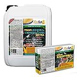 ZOOFUX Profi Gartenteich Schnell-Teichklärer EXTRA 5.000 ml + GRATIS: 1.000 g KH-Stabil (GRATIS Lieferung in DE - Wirkt sicher & schnell bei Trübungen und Schwebstoffen)