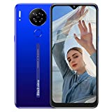 Blackview A80S Smartphone ohne Vertrag 4g, Octa-Core-Prozessor 4GB RAM + 64 GB, 6,21 Zoll HD+ Waterdrop Display, 13MP-Quad-Kamera, Großer 4200 mAh Akku, Android 10 Dual-SIM Handy (Blau)