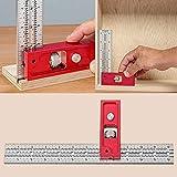 ZURITI Combination and Double Square Woodworking Tools, Woodpecker Combination Square, Angle Protractor Woodworking Tools Square, Mini Indexable Woodworkers Edge Ruler Precise Measuring B-12in